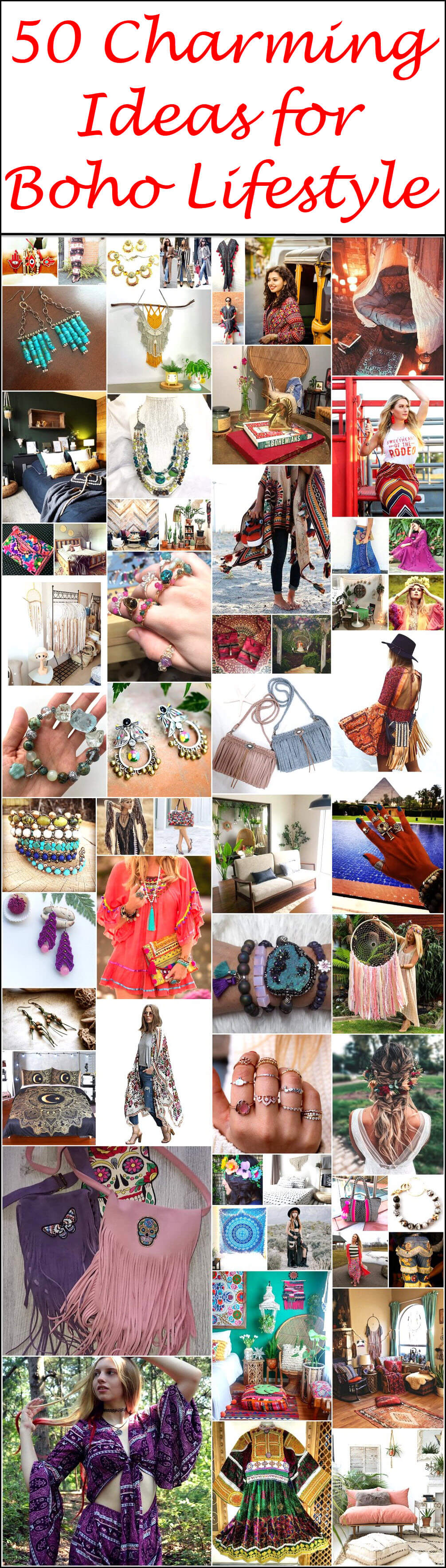 50 Charming Ideas for Boho Lifestyle