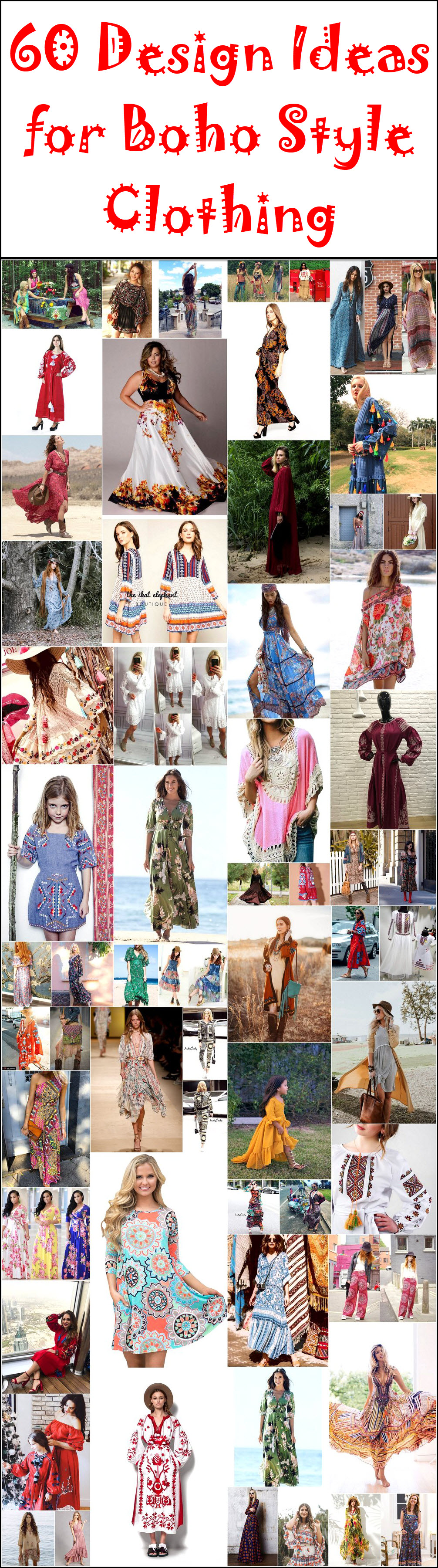60 Design Ideas for Boho Style Clothing