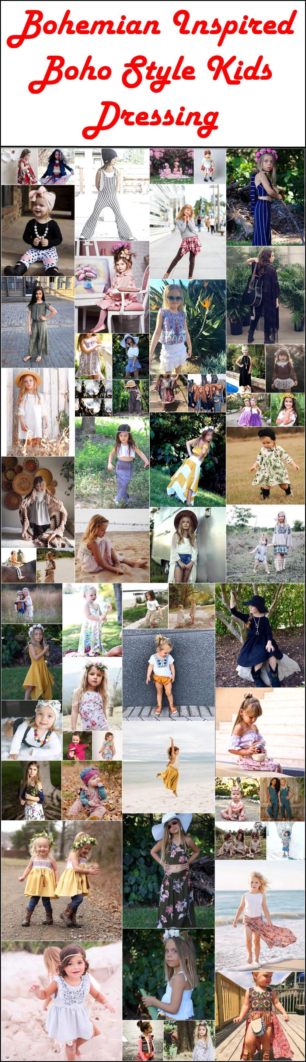 Bohemian Inspired Boho Style Kids Dressing
