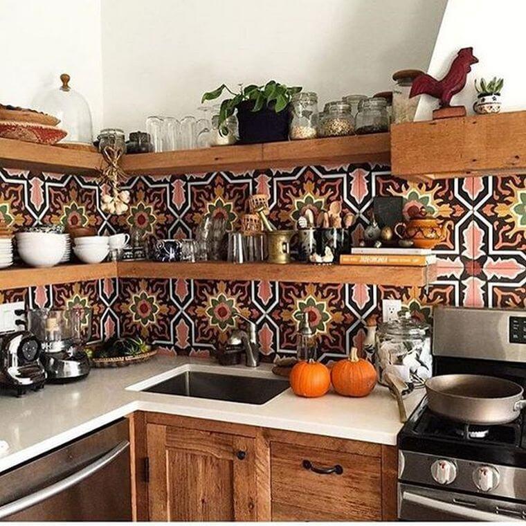 Bohemian Style Kitchens 13