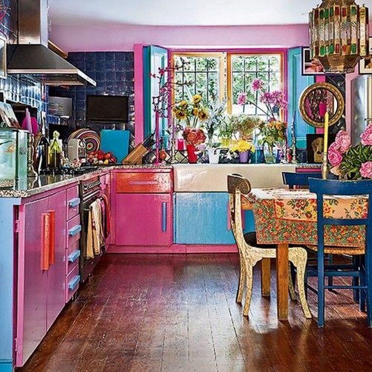 Bohemian Style Kitchens 14