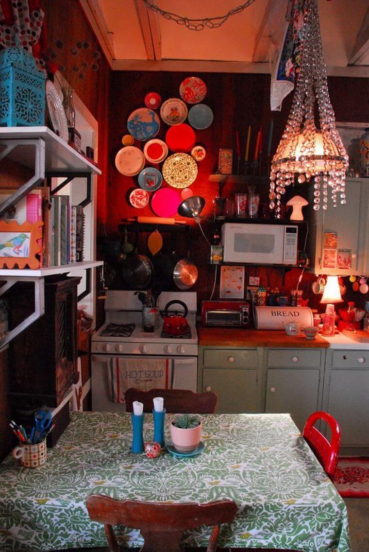 Bohemian Style Kitchens 16