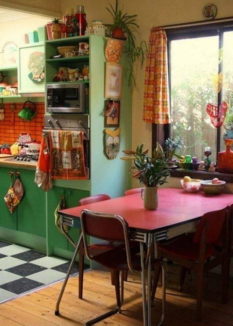 Bohemian Style Kitchens 8