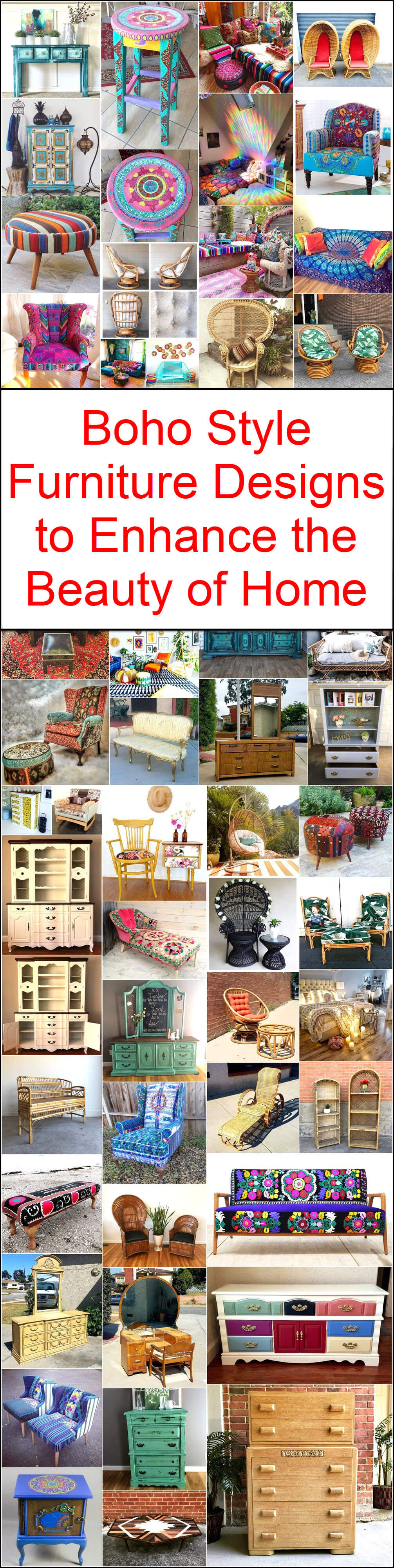 Boho Style Furniture Designs to Enhance the Beauty of Home