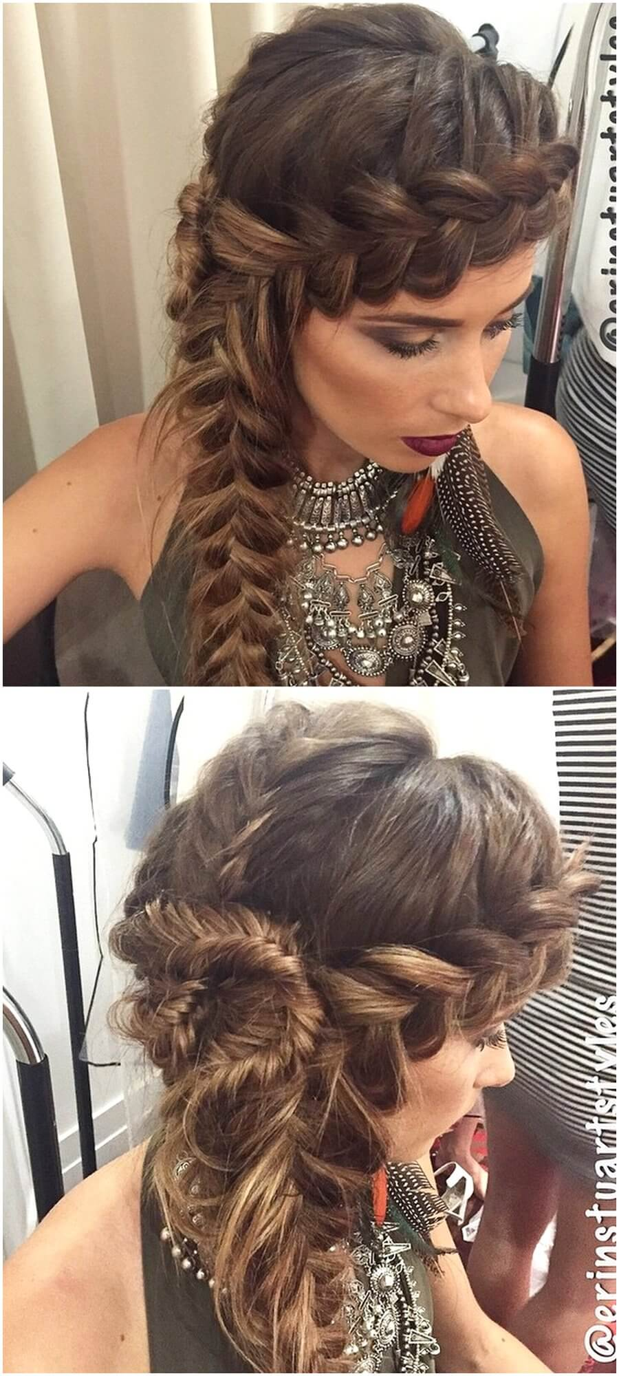 Cute Boho Style Girls Hair Styles For Any Kind of Hairs (10)