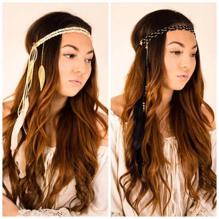Cute Boho Style Girls Hair Styles For Any Kind of Hairs (39)