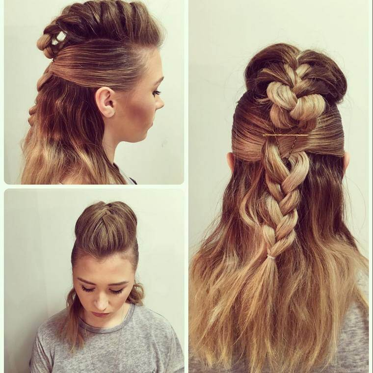 Cute Boho Style Girls Hair Styles For Any Kind of Hairs (40)
