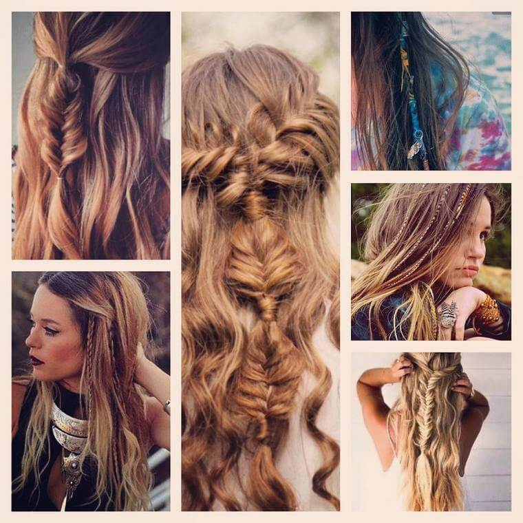 Cute Boho Style Girls Hair Styles For Any Kind of Hairs (44)