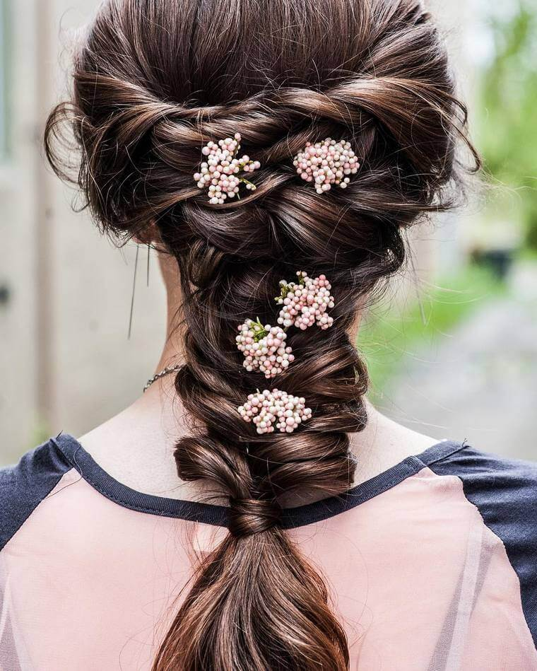 Cute Boho Style Girls Hair Styles For Any Kind of Hairs (50)