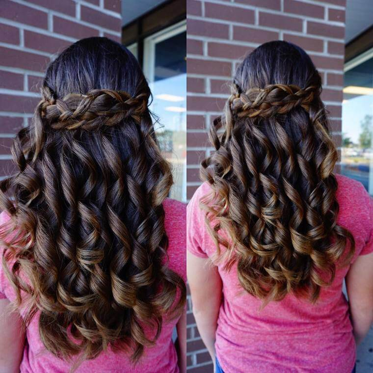 Cute Boho Style Girls Hair Styles For Any Kind of Hairs (54)