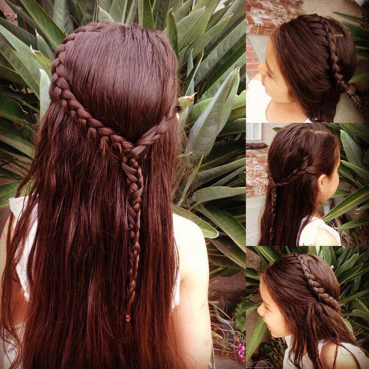 Cute Boho Style Girls Hair Styles For Any Kind of Hairs (56)