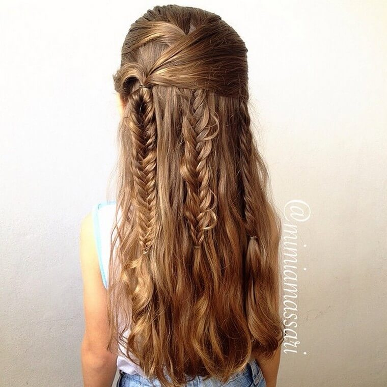 Cute Boho Style Girls Hair Styles For Any Kind of Hairs (7)