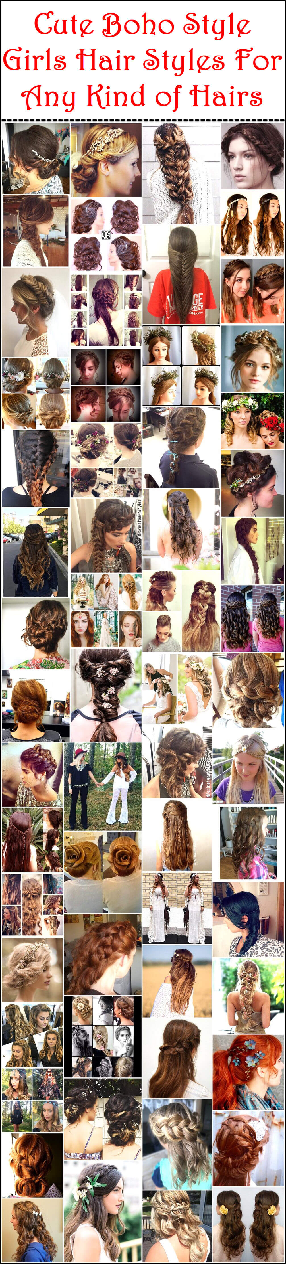 Cute Boho Style Girls Hair Styles For Any Kind of Hairs