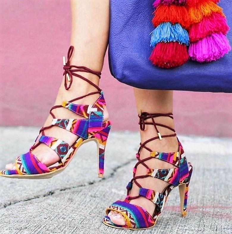 boho style shoes 36