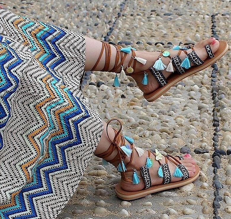 boho style shoes 39