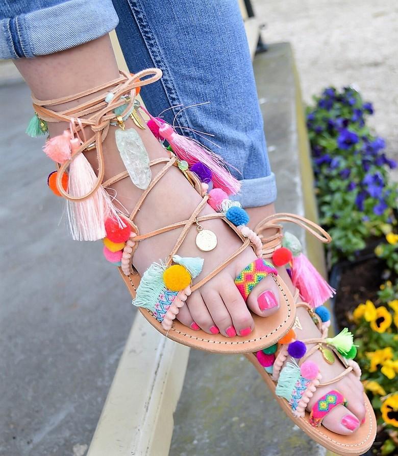 boho style shoes 40