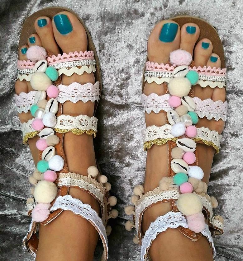 boho style shoes 45