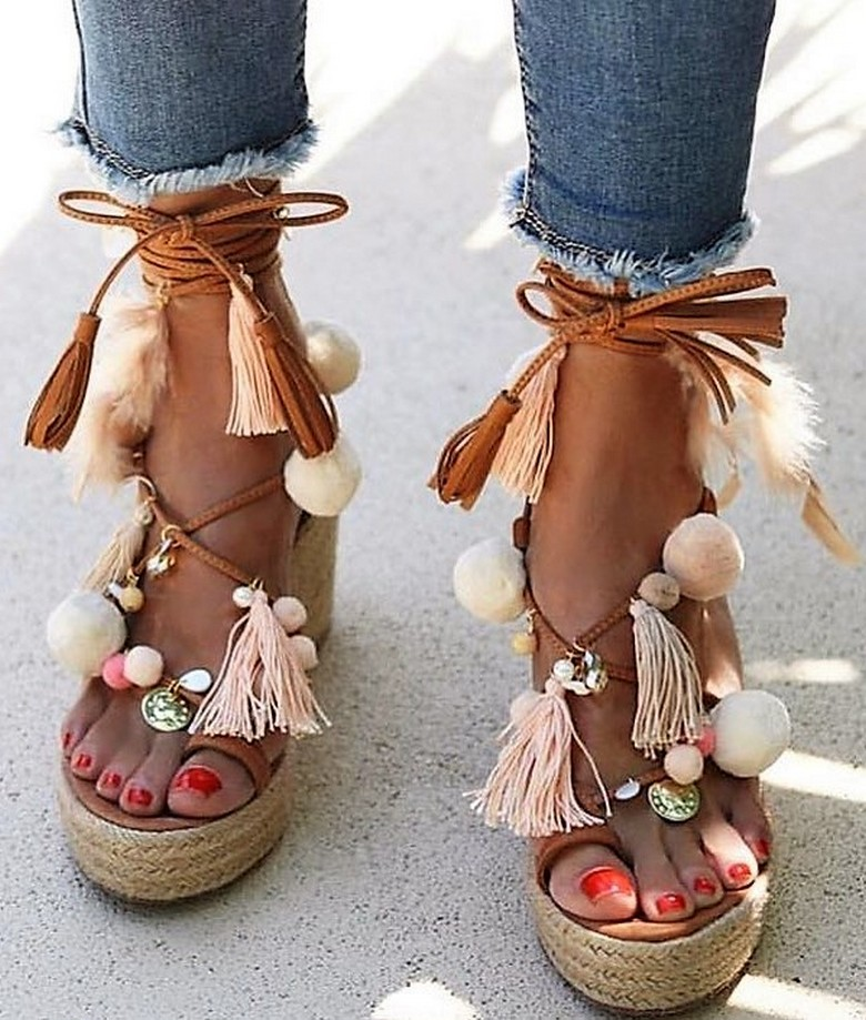 boho style shoes 46
