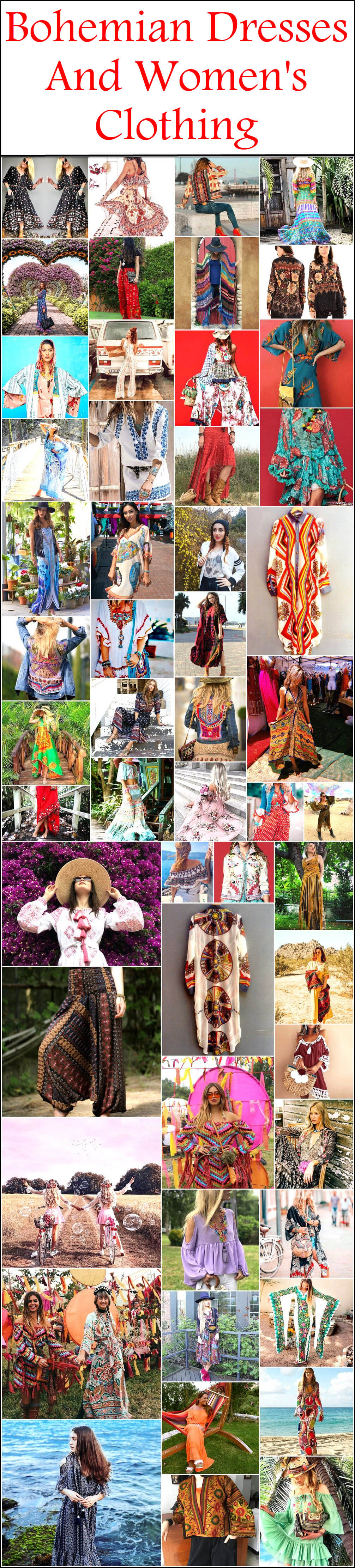 Bohemian Dresses And Women's Clothing