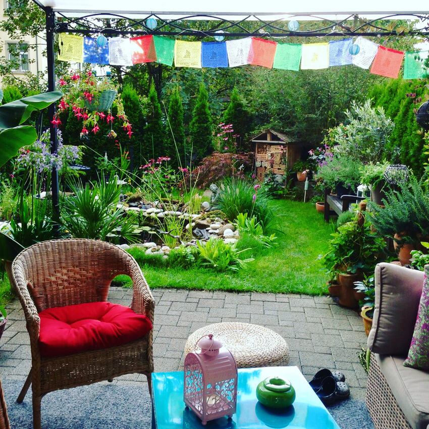 Bohemian Garden Backyard and Patio Ideas - Bohemian ... on Bohemian Patio Ideas id=91081