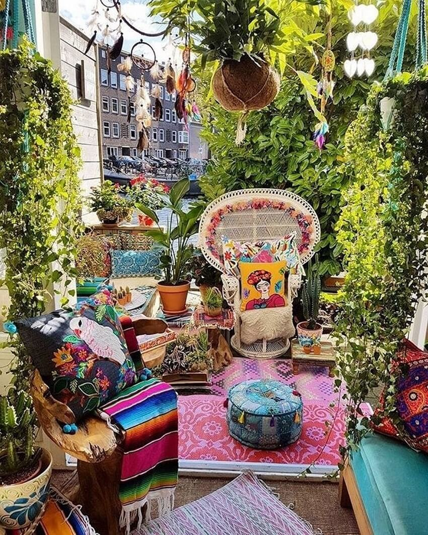 Bohemian Garden Designs And Backyard Ideas (50)