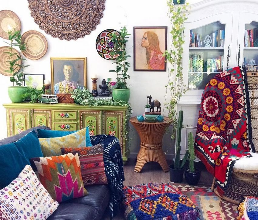 Bohemian Style Home Decor Ideas (47)