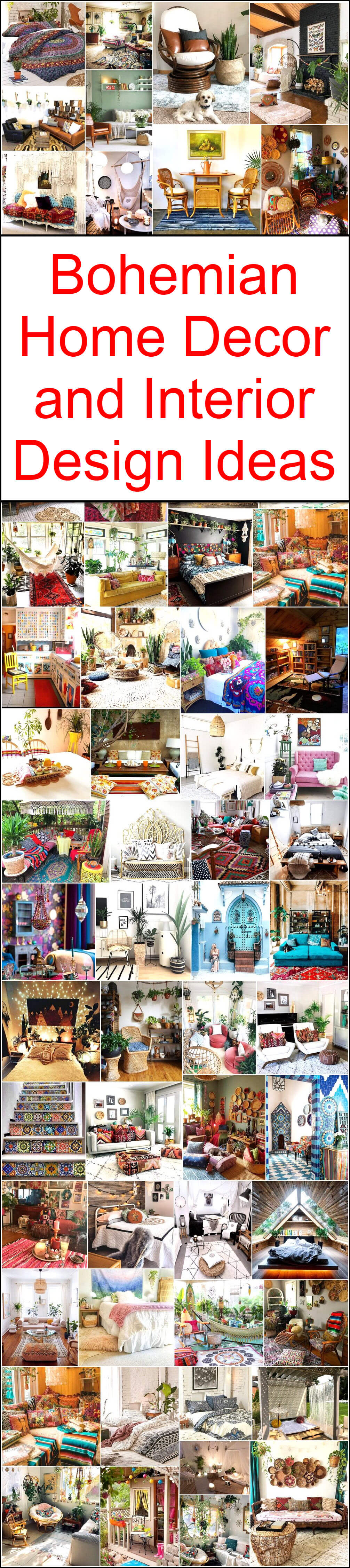 Bohemian Home Decor and Interior Design Ideas