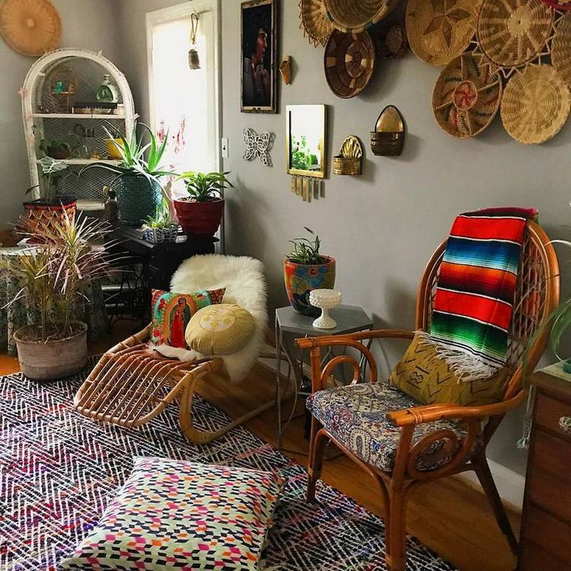 bohemian home decor ideas (19)
