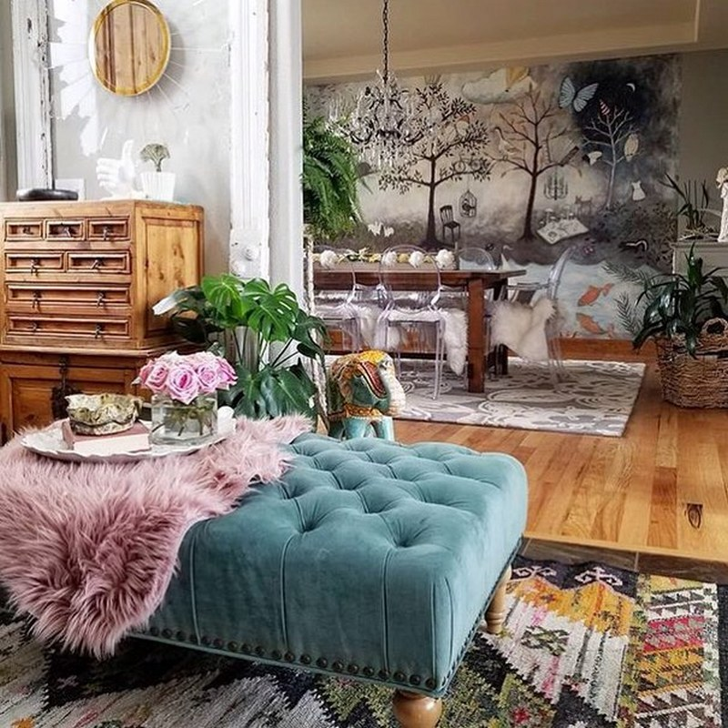 bohemian home decor ideas (4)