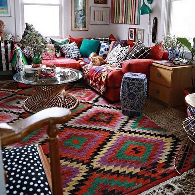 bohemian home decor ideas (44)