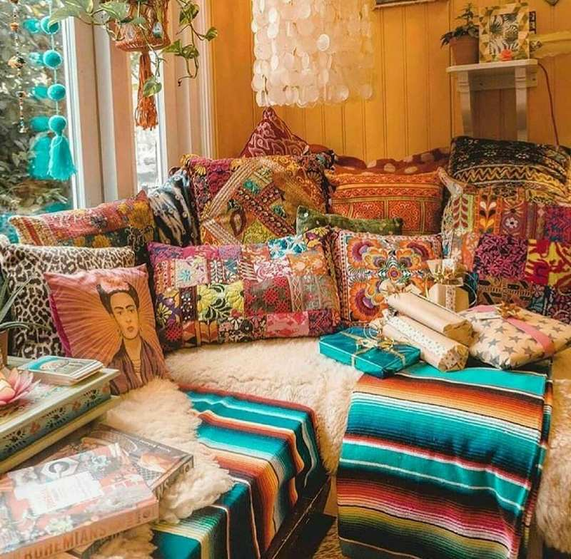 bohemian home decor ideas (45)