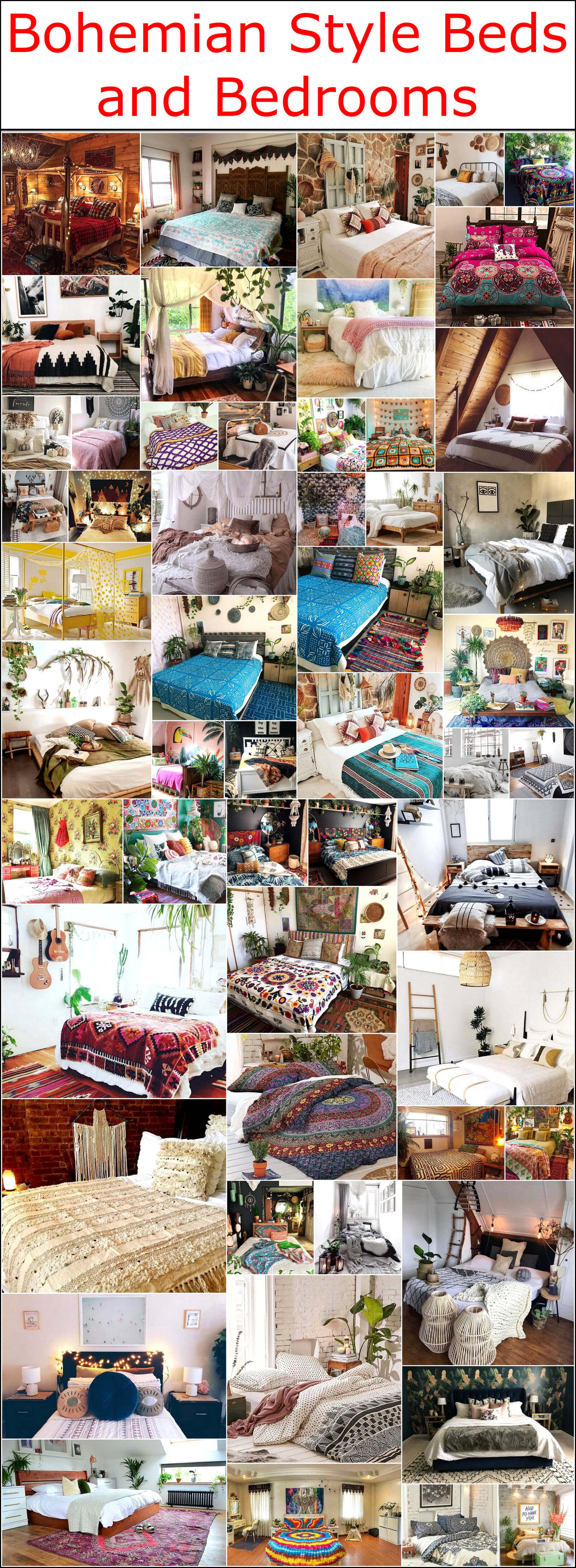 Bohemian Style Beds and Bedrooms