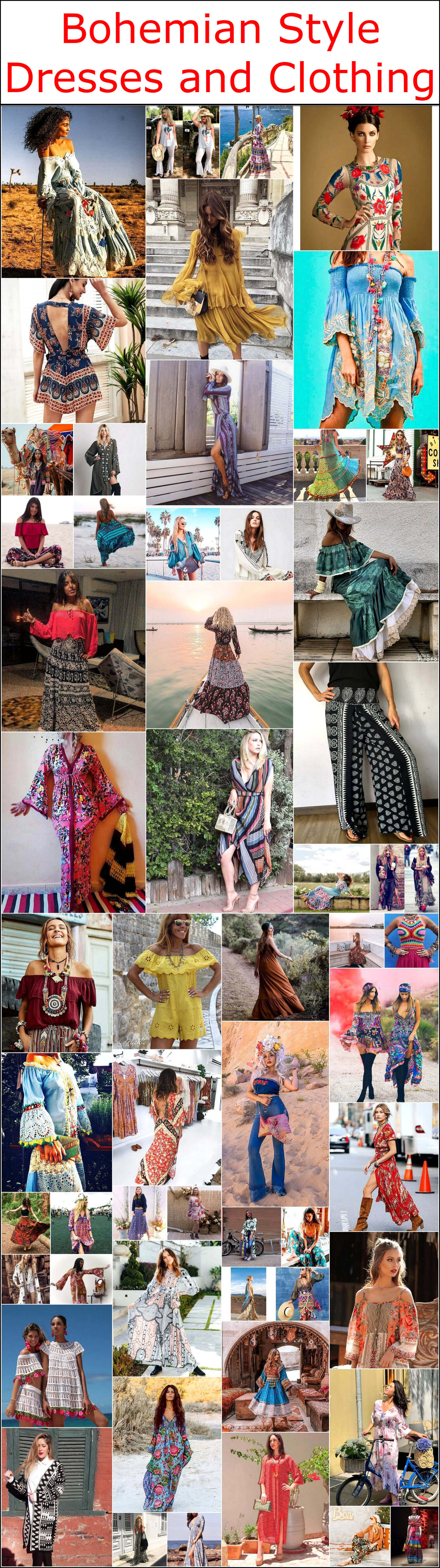 Bohemian Style Dresses and Clothing