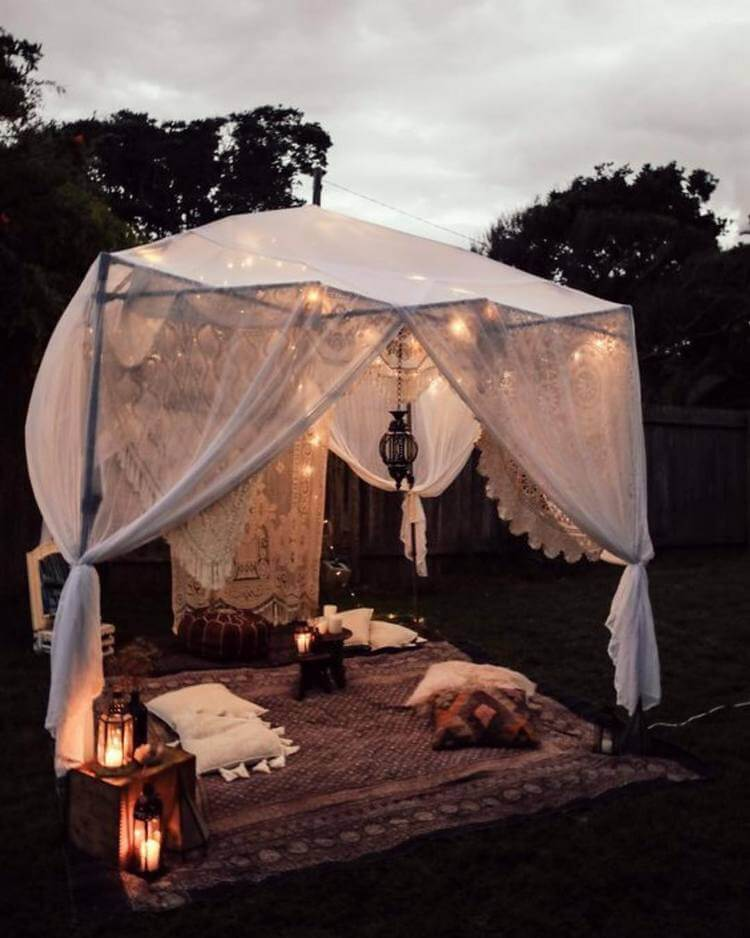bohemian style outdoor and garden (11)