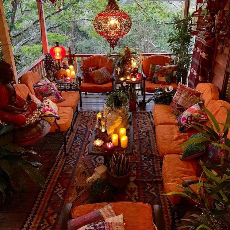 bohemian style outdoor and garden (17)