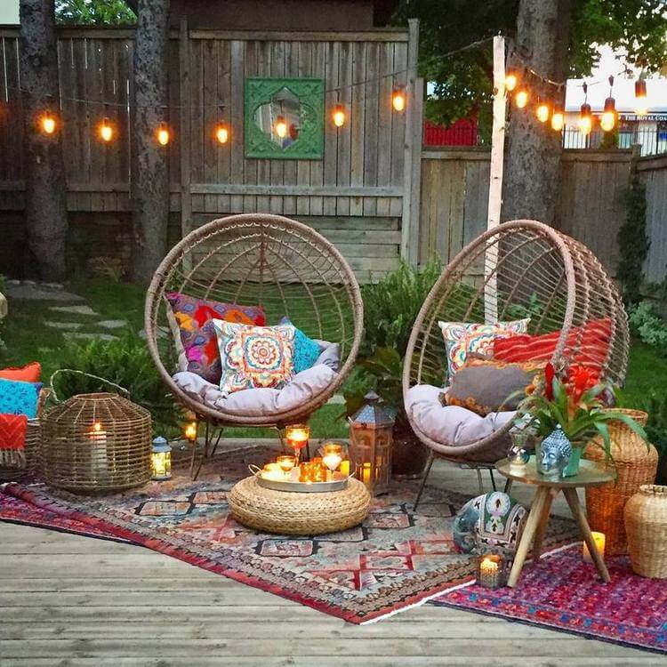 bohemian style outdoor and garden (19)