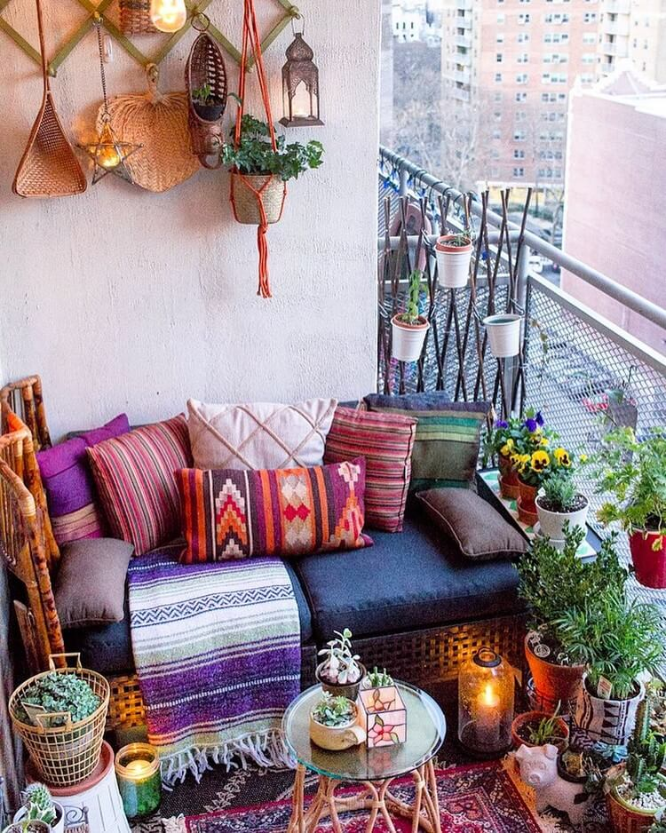 bohemian style outdoor and garden (2)