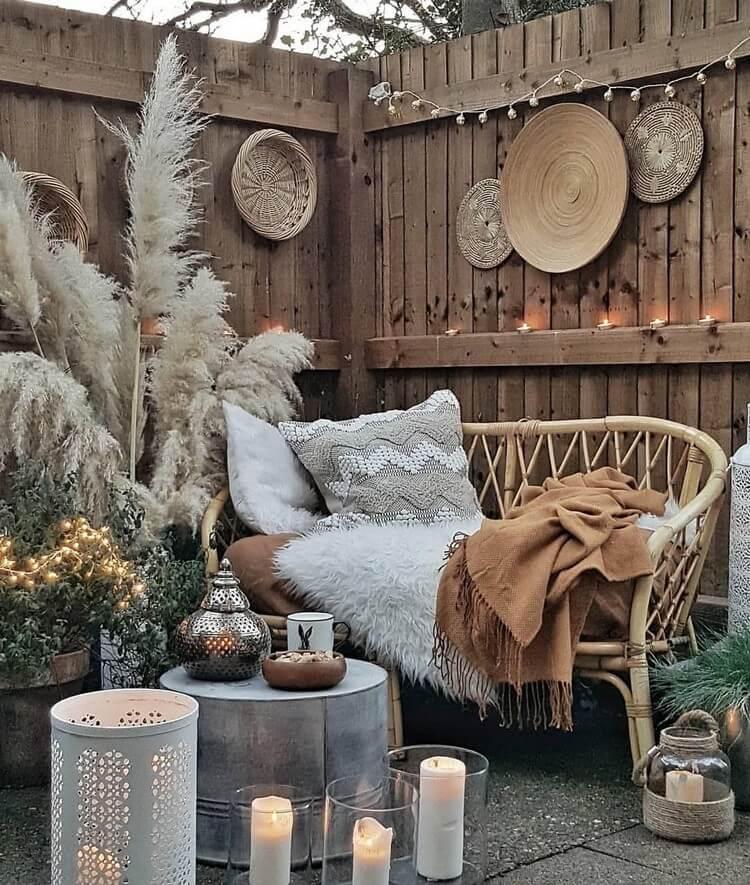 bohemian style outdoor and garden (20)