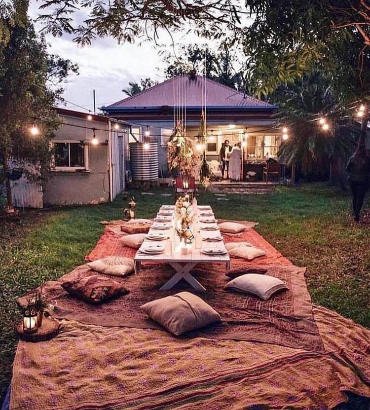 bohemian style outdoor and garden (23)