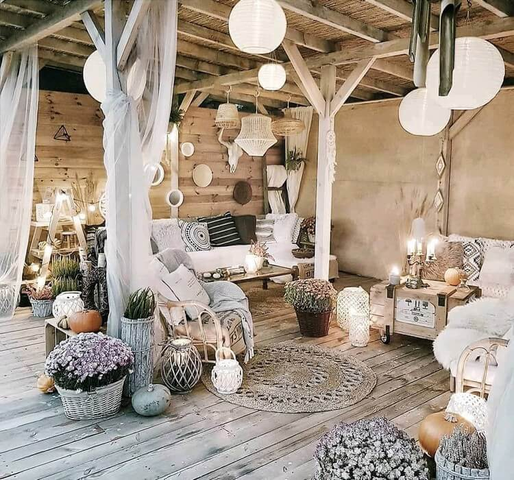 bohemian style outdoor and garden (25)