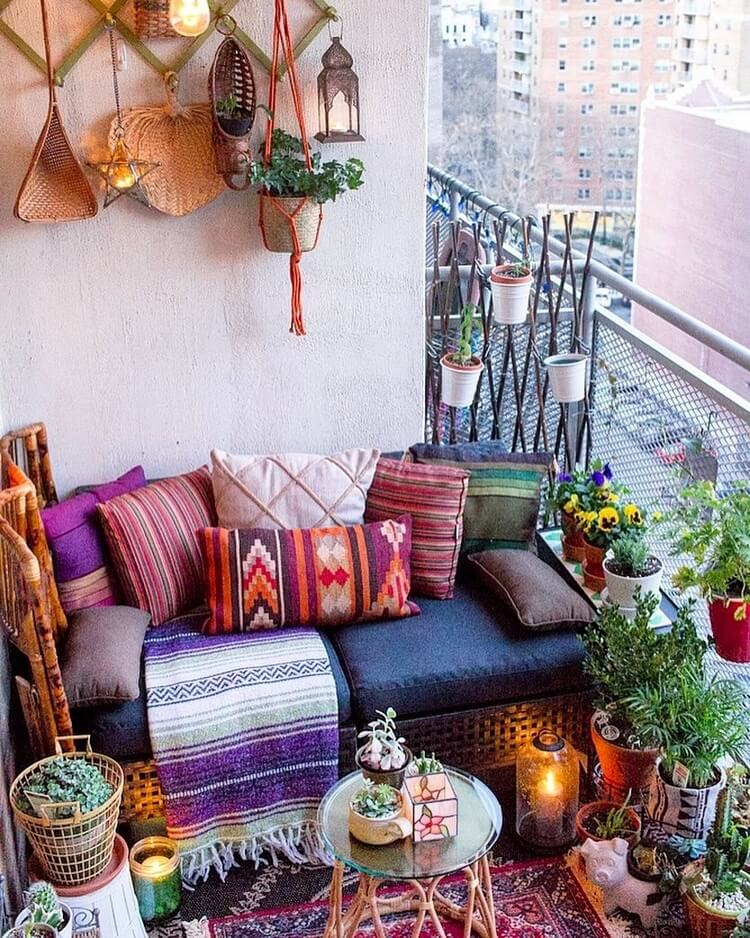 bohemian style outdoor and garden (27)