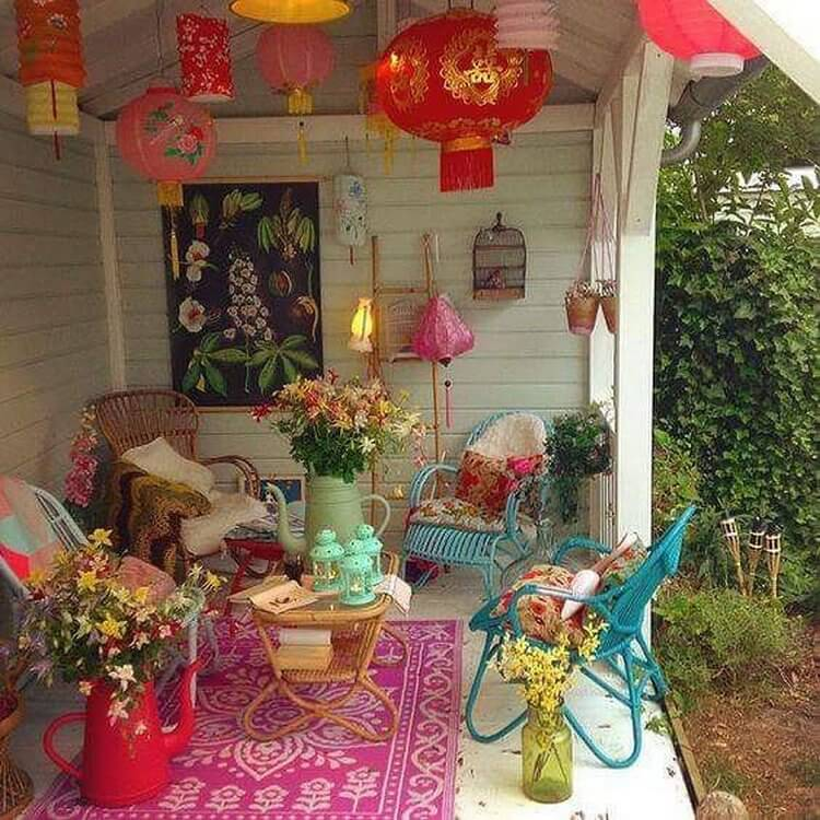 bohemian style outdoor and garden (29)
