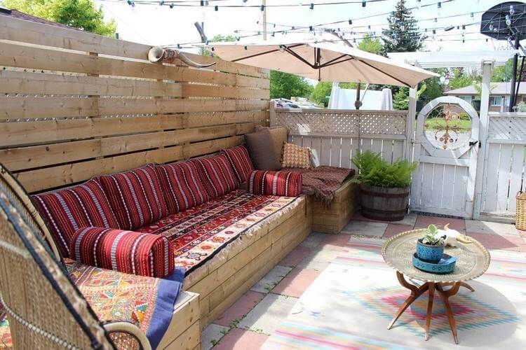 bohemian style outdoor and garden (30)