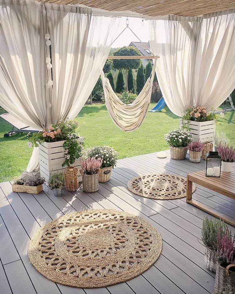 bohemian style outdoor and garden (31)