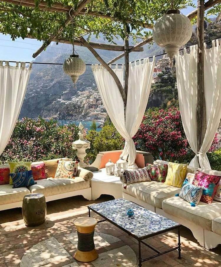 bohemian style outdoor and garden (32)
