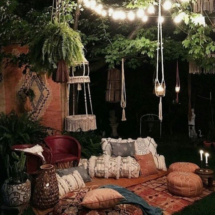 bohemian style outdoor and garden (35)