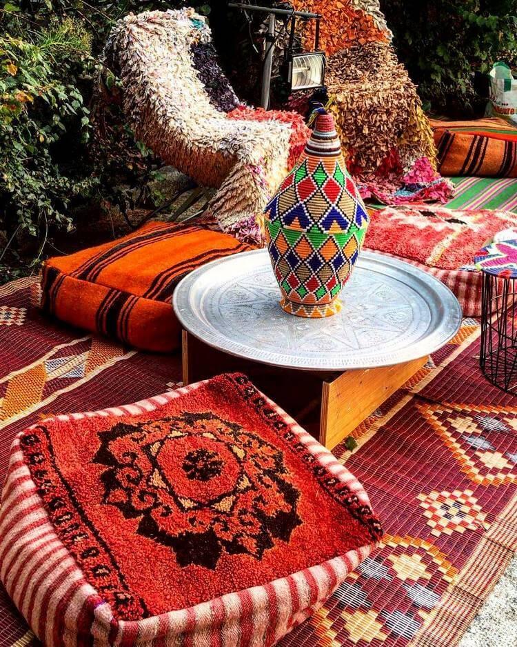 bohemian style outdoor and garden (42)