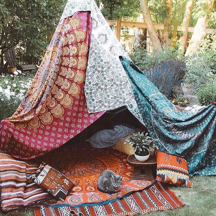 bohemian style outdoor and garden (43)