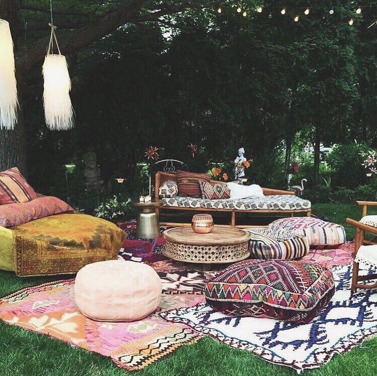 bohemian style outdoor and garden (44)