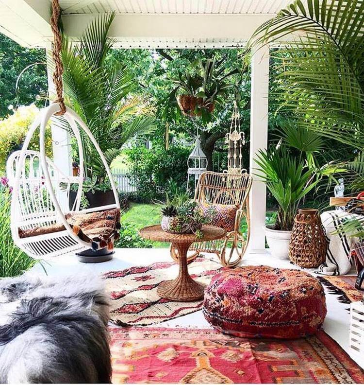 bohemian style outdoor and garden (52)